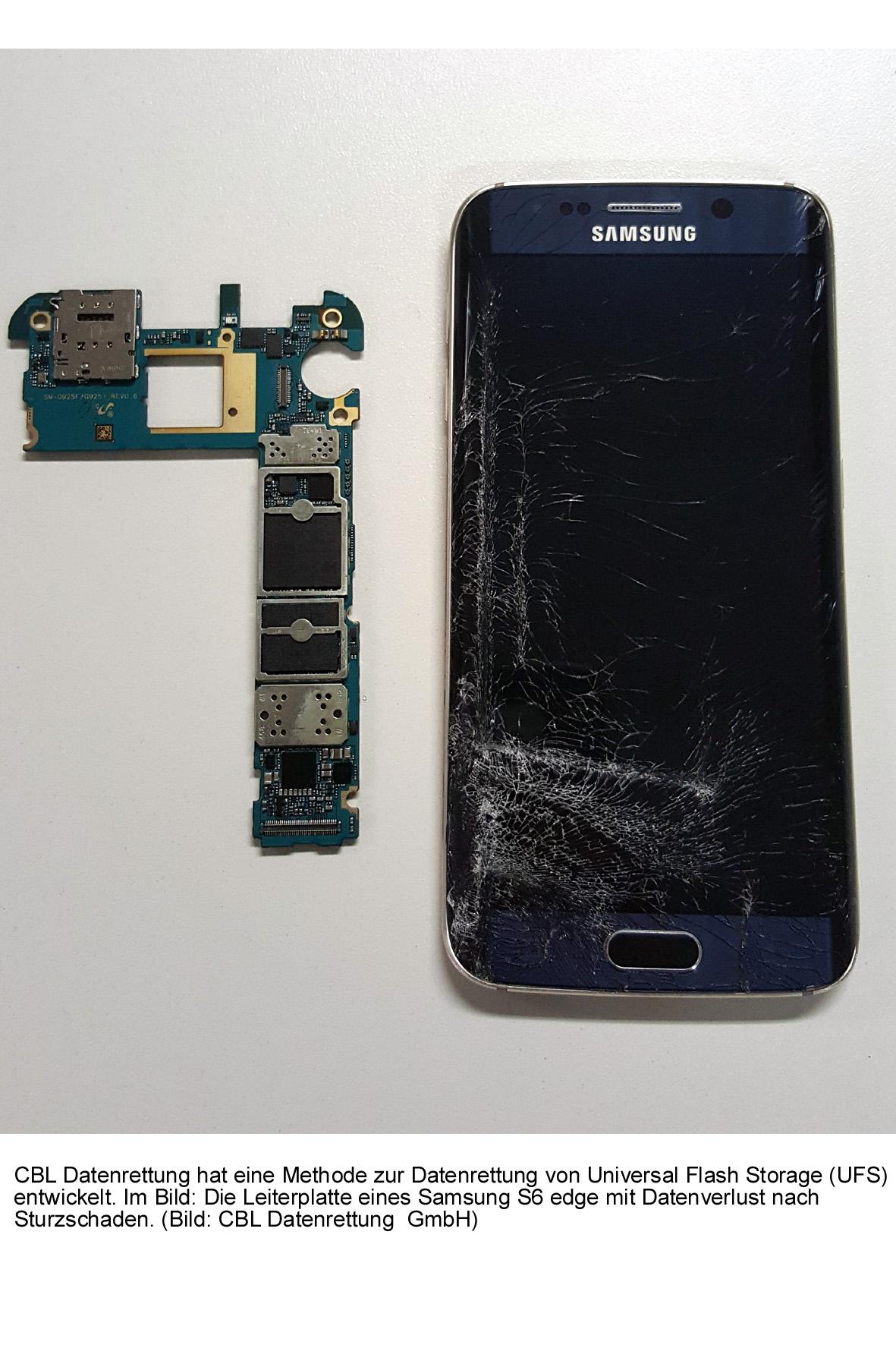 Samsung Galaxy S6 mit Sturzschaden